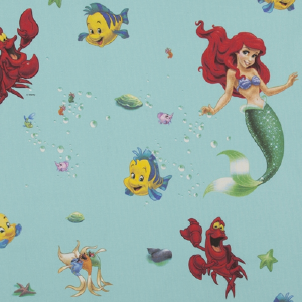 Disney, The Little Mermaid Stof Groen