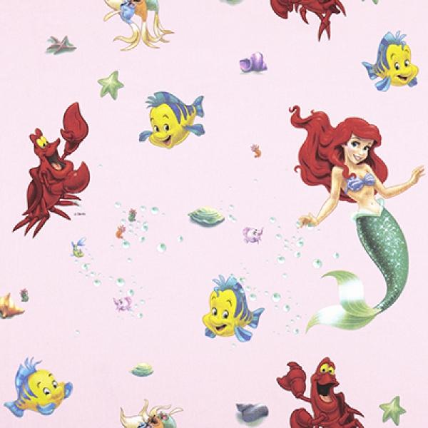 Disney, The Little Mermaid Stof Roze