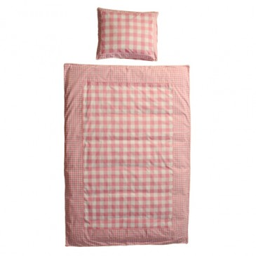Stof VICHY PINK DUVET COVER