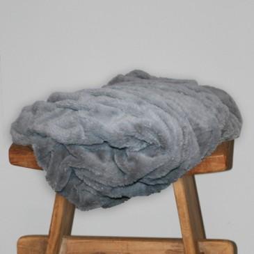 Stof Sprei Grey Fur