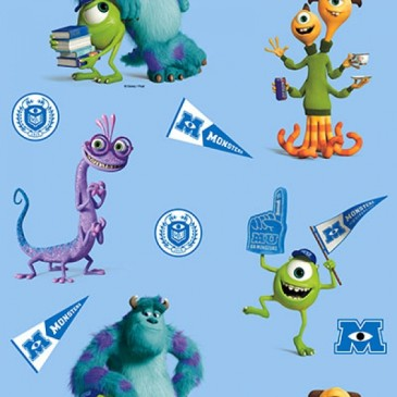 Disney Monsters Inc Stof DIGMIKE.38.140