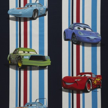 Cars Disney Stof STRIPECAR.42.140