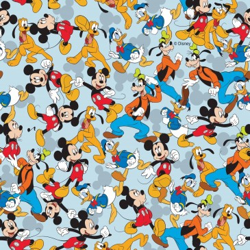 Disney Donald Duck Mickey Mouse Stof MIXED.380.140