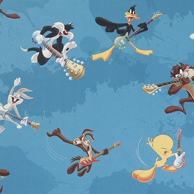 Looney Tunes Stof Blauw